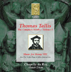 Thomas Tallis: The Complete Works Volume 1 - Music for Henry VIII