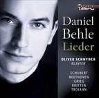 Vocal Recital (Lieder): Behle, Daniel - Schubert, F. / Beethoven, L. Van / Grieg, E. / Britten, B. / Trojahn, M.