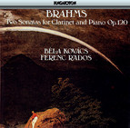 Brahms: Sonatas for Clarinet and Piano Nos. 1 and 2