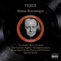 Verdi, G.: Simon Boccanegra (Gobbi, Christoff, Los Angeles, Santini) (1957)