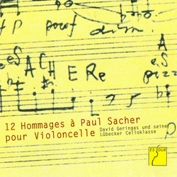 12 Hommages  Paul Sacher pour Violoncelle