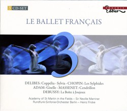 Ballets - Delibes, L. / Chopin, F. / Adam, A. / Massenet, J. / Debussy, C.
