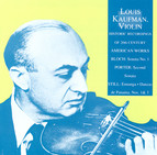 Bloch: Violin Sonata No. 1 / Porter, Q.: Violin Sonata No. 2 / Still: Ennanga / Danzas De Panama (Kaufman) (1953-1956)