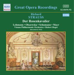 Strauss, R.: Rosenkavalier (Der) (Lehmann, Schumann) (1933)