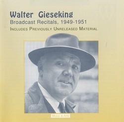 Gieseking Broadcast Recitals (1949-1951)
