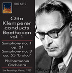 Otto Klemperer conducts Beethoven, Vol. 1 (1960)
