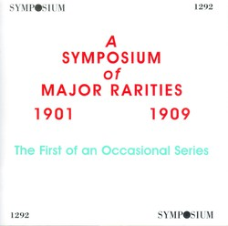 A Symposium of Major Rarities (1901-1909)