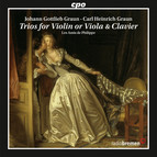 Graun: Trios for Violin or Viola & Clavier
