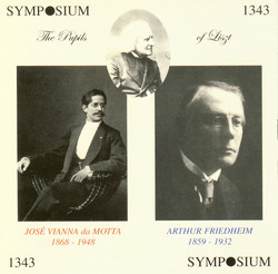 The Pupils of Liszt (1911-1928)