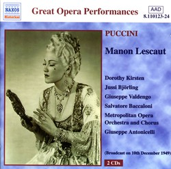Puccini: Manon Lescaut (Kirsten, Björling) (1949)