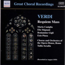 Verdi: Requiem (Gigli) (1939)