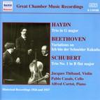 Haydn / Beethoven / Schubert: Piano Trios (Thibaud / Cortot / Casals) (1926-1927)