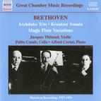 Beethoven: Archduke Trio (Thibaud / Casals / Cortot) (1926-1927)