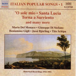 Italian Popular Songs, Vol.  1 (1930-1950)