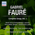 Faure: Complete Songs, Vol. 1