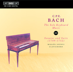 C.P.E. Bach: Solo Keyboard Music, Vol.10
