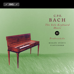 C.P.E. Bach: Solo Keyboard Music, Vol. 22