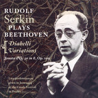 Beethoven: Piano Sonata No. 30 / 33 Variations in C Major On A Waltz by Diabelli (Serkin) (1954)