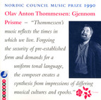 Thommessen: Gratias Agimus / Through A Prism / Woven in Stems (Nordic Council Music Prize 1990)