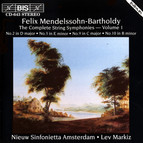 Mendelssohn - The Complete String Symphonies, Vol.1
