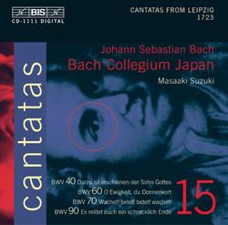 J.S. Bach - Cantatas, Vol.15 (BWV 40, 60, 70, 90)