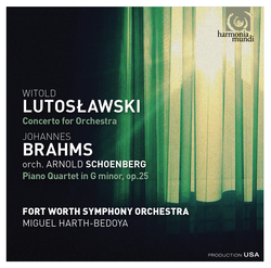 Lutoslawski: Concerto for orchestra - Brahms: Piano Quartet in G Minor