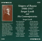 Singers of Russia (1900-1917)