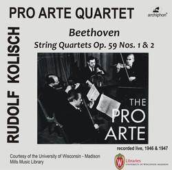 Beethoven: String Quartets, Op. 59 Nos. 1 & 2 (Live)
