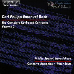 C.P.E. Bach - Keyboard Concertos, Vol.3