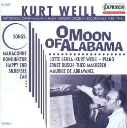 Weill, K.: Songs (Lenya, Weill) (1928-1944)