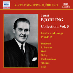 Bjorling, Jussi: Björling Collection, Vol. 5: Lieder and Songs (1939-1952)