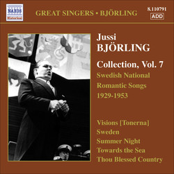 Björling, Jussi: Björling Collection, Vol. 7 - Swedish National Romantic Songs (1929-1953)