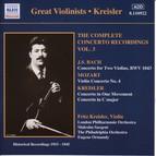 Bach, J.S. / Mozart: Violin Concertos (Kreisler) (1915-1945)