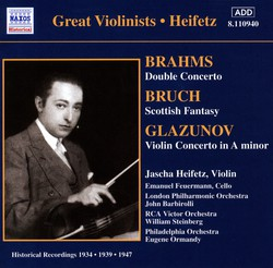 Brahms / Glazunov: Violin Concertos (Heifetz) (1934, 1939)