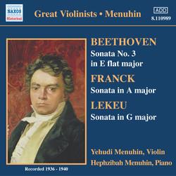 Beethoven / Franck / Lekeu: Violin Sonatas (Menuhin) (1936-1940)