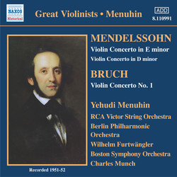 Mendelssohn / Bruch: Violin Concertos (Menuhin) (1951-1952)