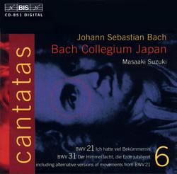 J.S. Bach - Cantatas, Vol.6 (BWV 21, 31)
