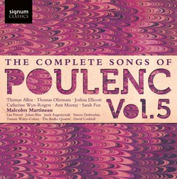 Poulenc: The Complete Songs, Vol. 5