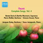 Faure, G.: Songs (Complete), Vol. 4 - Opp. 72, 76, 83, 85, 87, 94, 95 (Doria, Monmart, Dutey, Mollet) (1955)