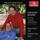 Brahms: The Three Sonatas for violin and piano (arr. cello and piano)