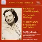 Brahms: Alto Rhapsody / Schumann: Frauenliebe Und Leben (Ferrier) (1947-1950)