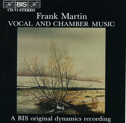 Martin - Vocal and Chamber Music