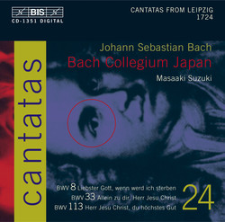 J.S. Bach - Cantatas, Vol.24 (BWV 8, 33 and 113)