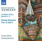 Taneyev: Complete String Quartets, Vol. 4