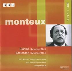 Monteux - Brahms: Symphony No. 3 - Schumann: Symphony No. 4