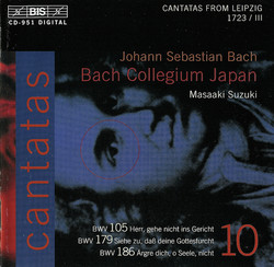 J.S. Bach - Cantatas, Vol.10 (BWV 179, 105, 186)