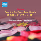 Mozart, W.A.: Sonatas for Piano 4-Hands, K. 357, 497, 521 (Badura-Skoda, Demus) (1951)