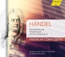 Handel: Feuerwerkmusik - Wassermusik - Concerti Grossi, Op. 3