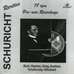 Schuricht: Pre-war 78 rpm recordings
