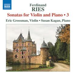 Ries: Sonatas for Violin & Piano, Vol. 3